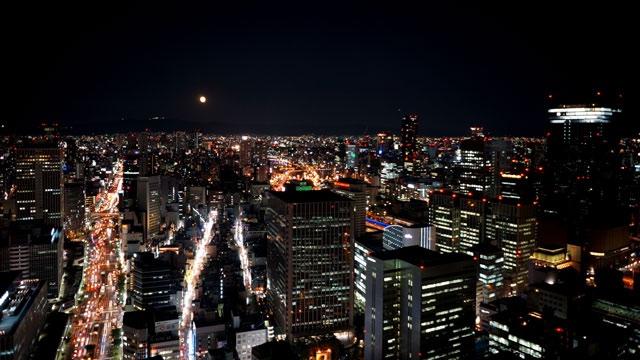 ザ・リッツ・カールトン大阪_スカイビュー・東側の夜景