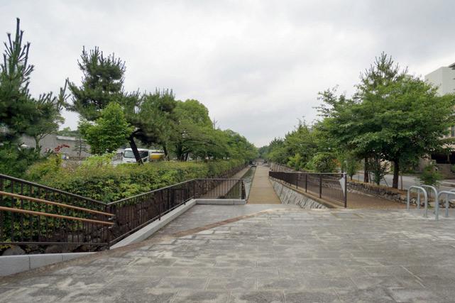 ANA京都_ホテル前の道