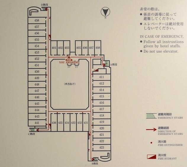 京都ブライトンホテル_館内図
