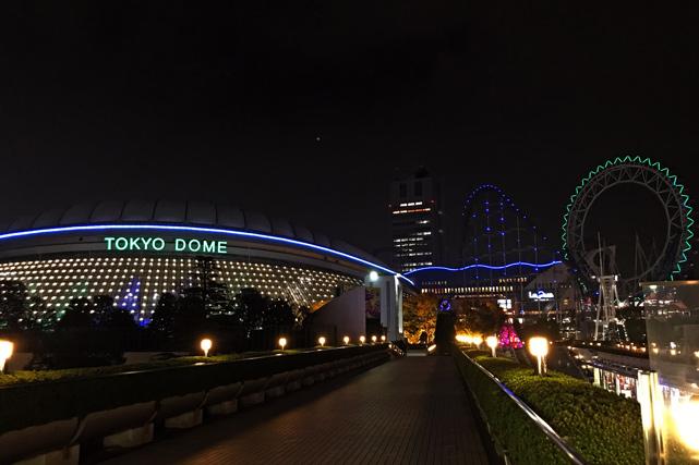 東京ドームホテル_ドーム側エントランスからの眺め