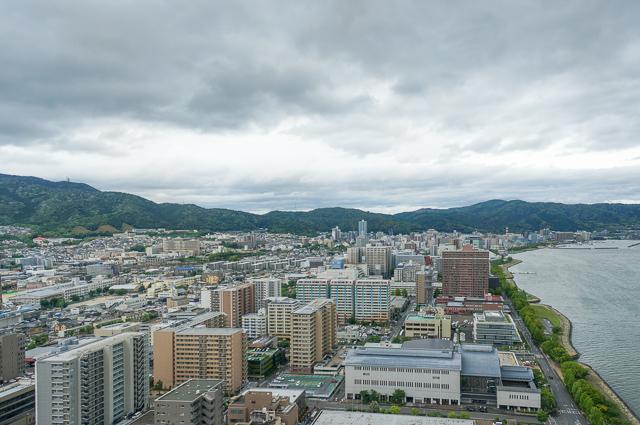 びわ湖大津プリンスホテル_エレベーターホールからの眺め