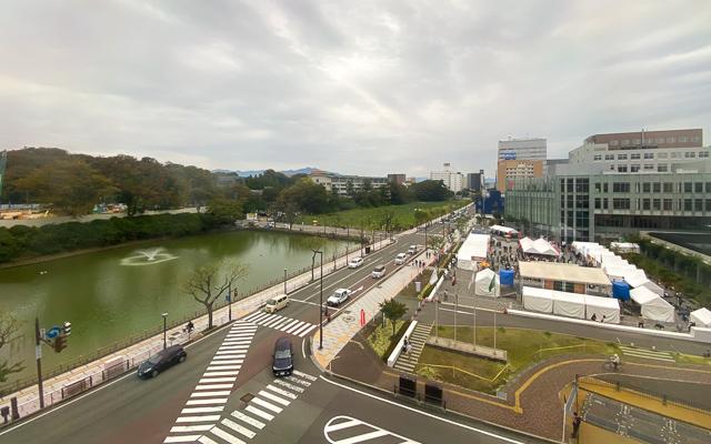 秋田キャッスルホテル_廊下からの眺め